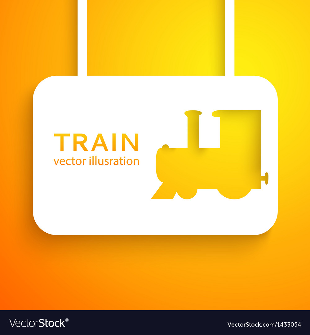 Train applique background vector | Price: 1 Credit (USD $1)