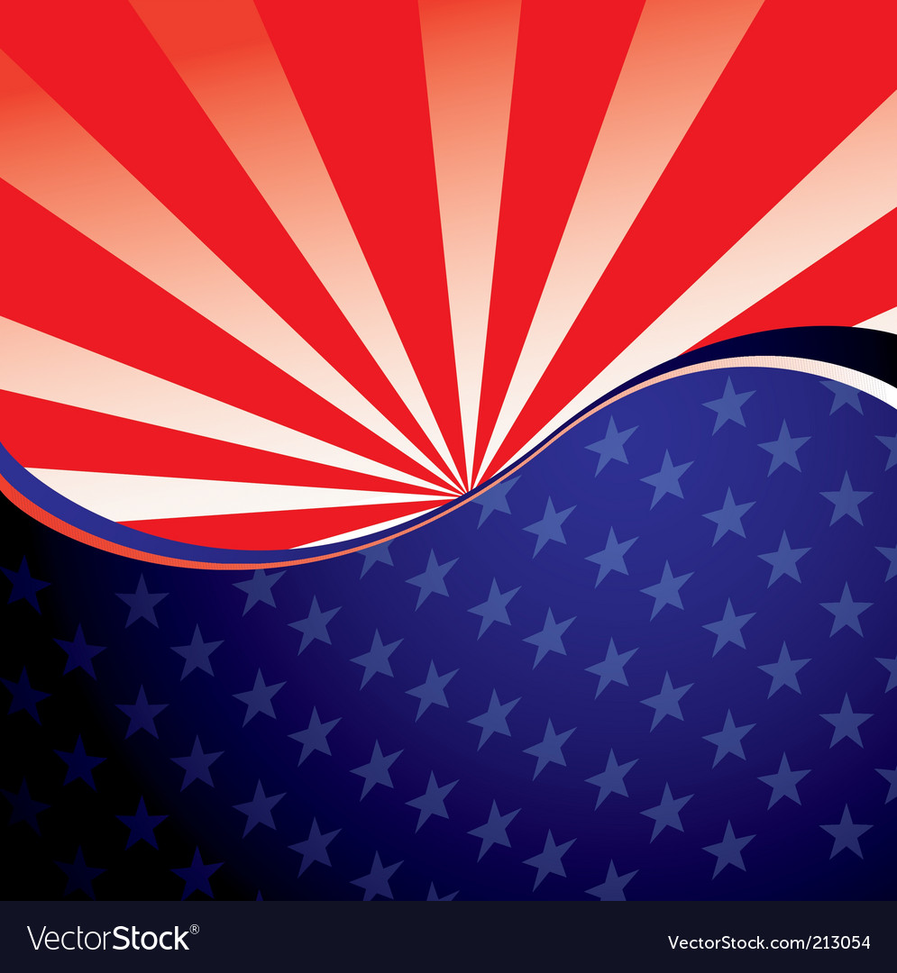 Usa radiate background vector | Price: 1 Credit (USD $1)