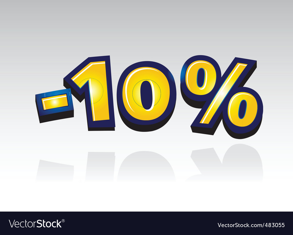 10 percent reduced vector | Price: 1 Credit (USD $1)