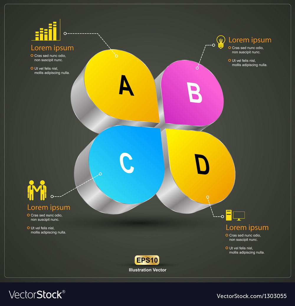 Abcd 3d vector | Price: 1 Credit (USD $1)