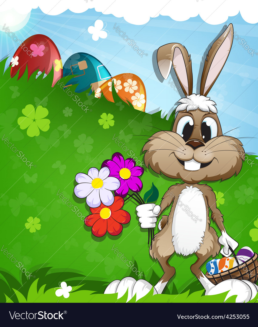 Easter rabbit vector | Price: 3 Credit (USD $3)