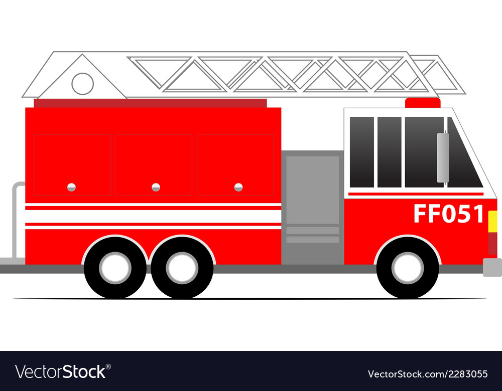 Firefighter car vector | Price: 1 Credit (USD $1)