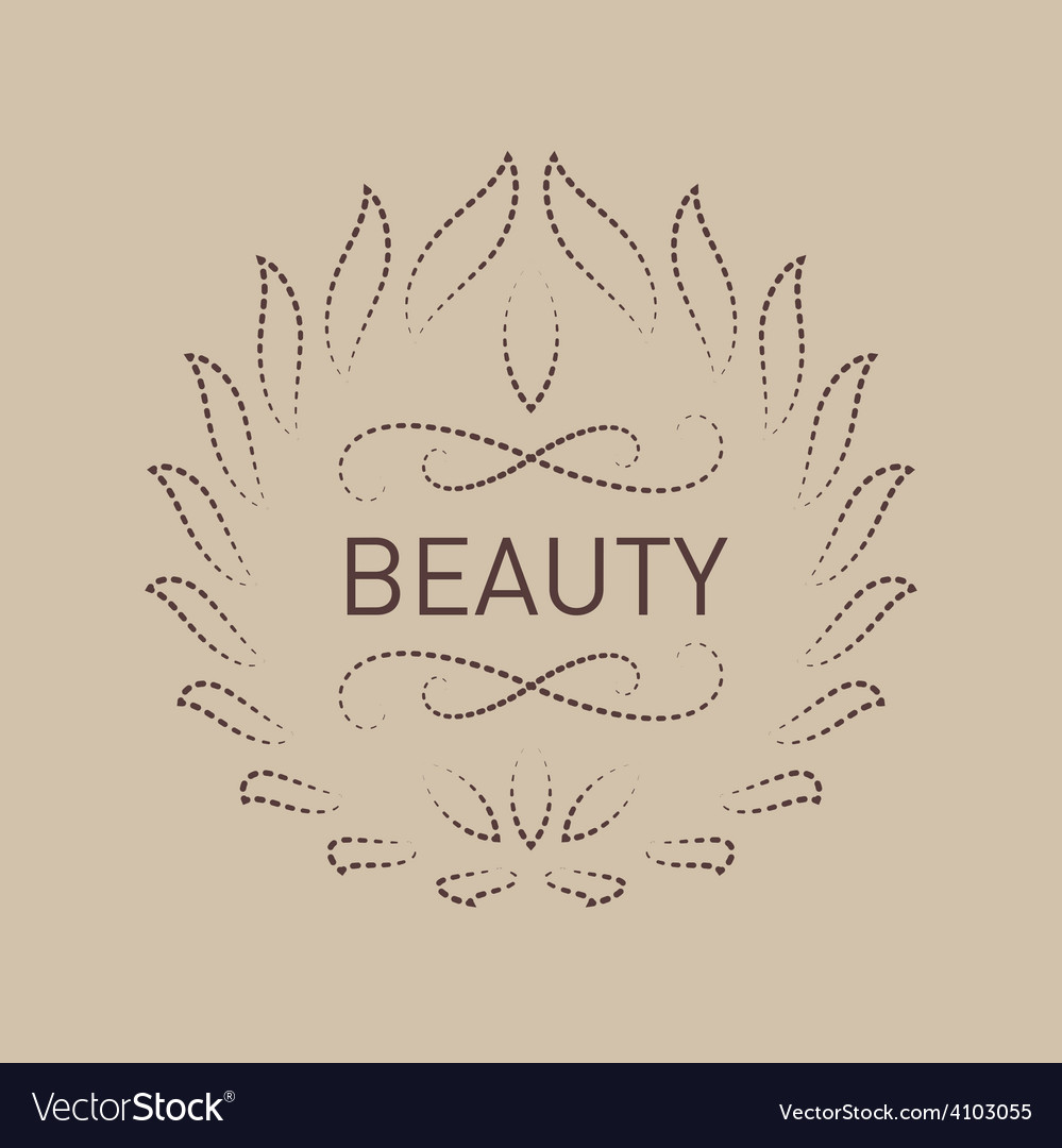 Floral logo template for beauty salon spa center vector | Price: 1 Credit (USD $1)
