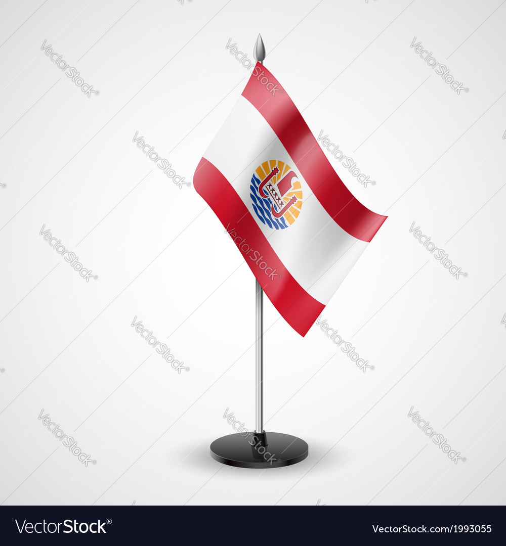 Table flag of french polynesia vector | Price: 1 Credit (USD $1)