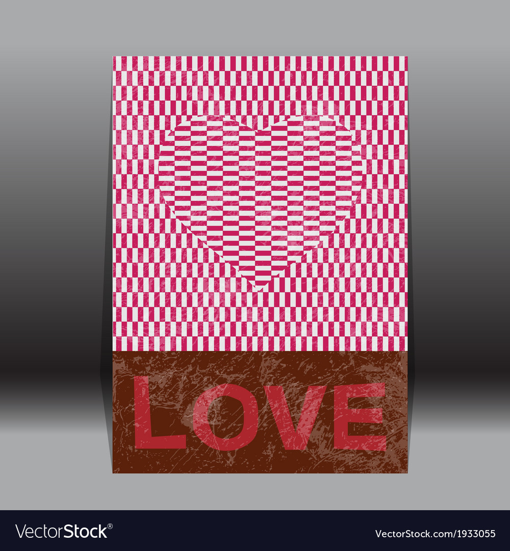 Valentines day paper classic  red heart vector   Price: 1 Credit (USD $1)