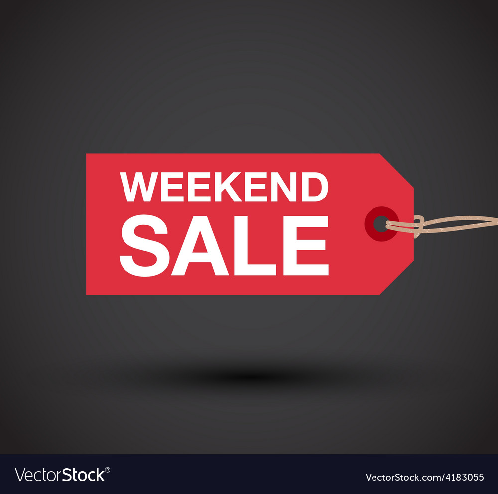 Weekend sale sign vector | Price: 1 Credit (USD $1)