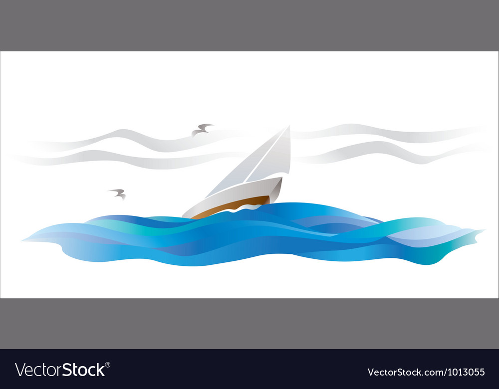 Wind sailing vector | Price: 1 Credit (USD $1)