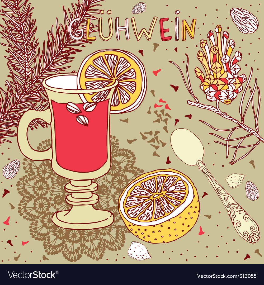 Wine nuts and spices vector | Price: 1 Credit (USD $1)