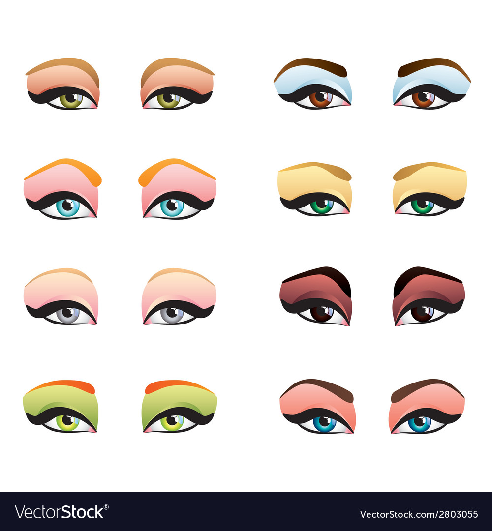 Woman eyes make up vector | Price: 1 Credit (USD $1)