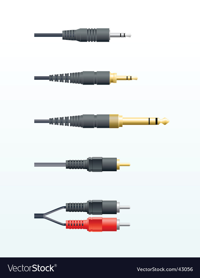 Audio cables vector | Price: 1 Credit (USD $1)