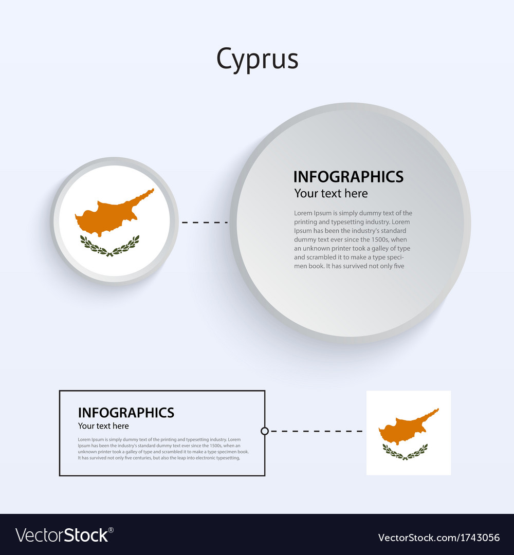Cyprus country set of banners vector | Price: 1 Credit (USD $1)