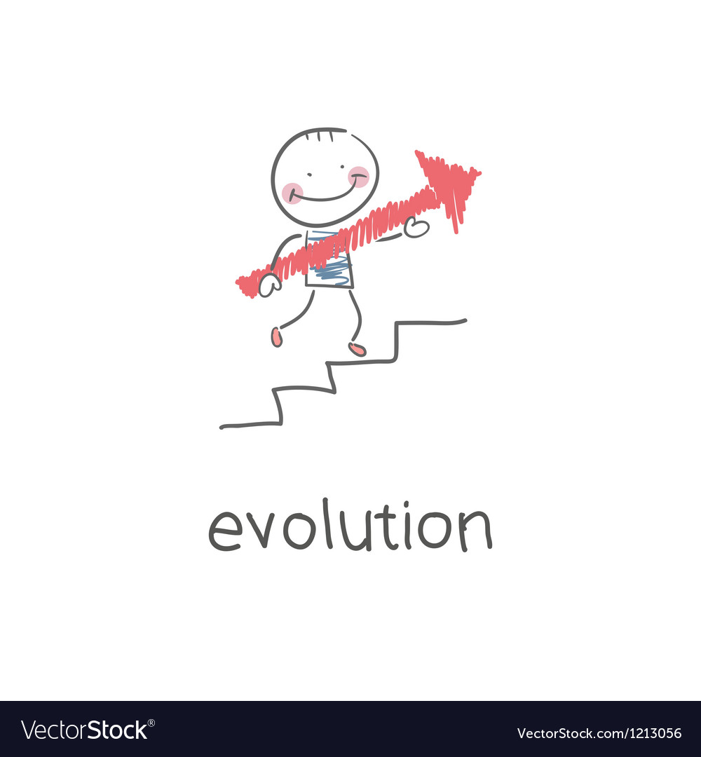 Evolution career vector | Price: 1 Credit (USD $1)