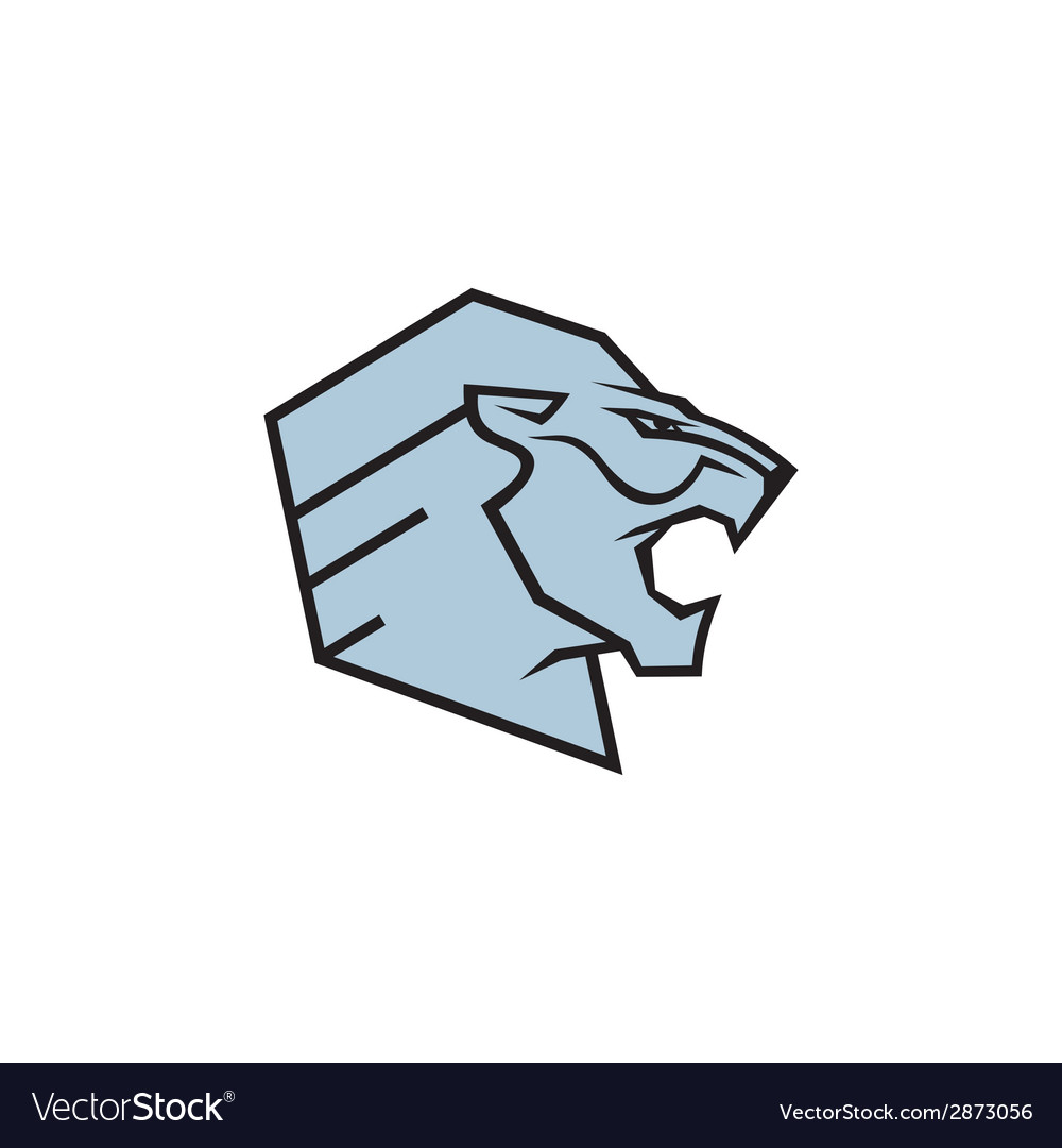 Fierce lion sport mascot sign vector | Price: 1 Credit (USD $1)
