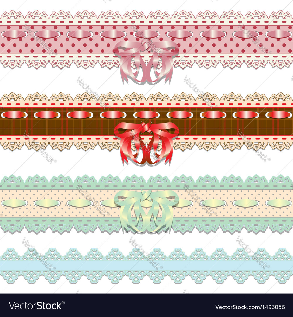 Lace ribbons vector | Price: 1 Credit (USD $1)