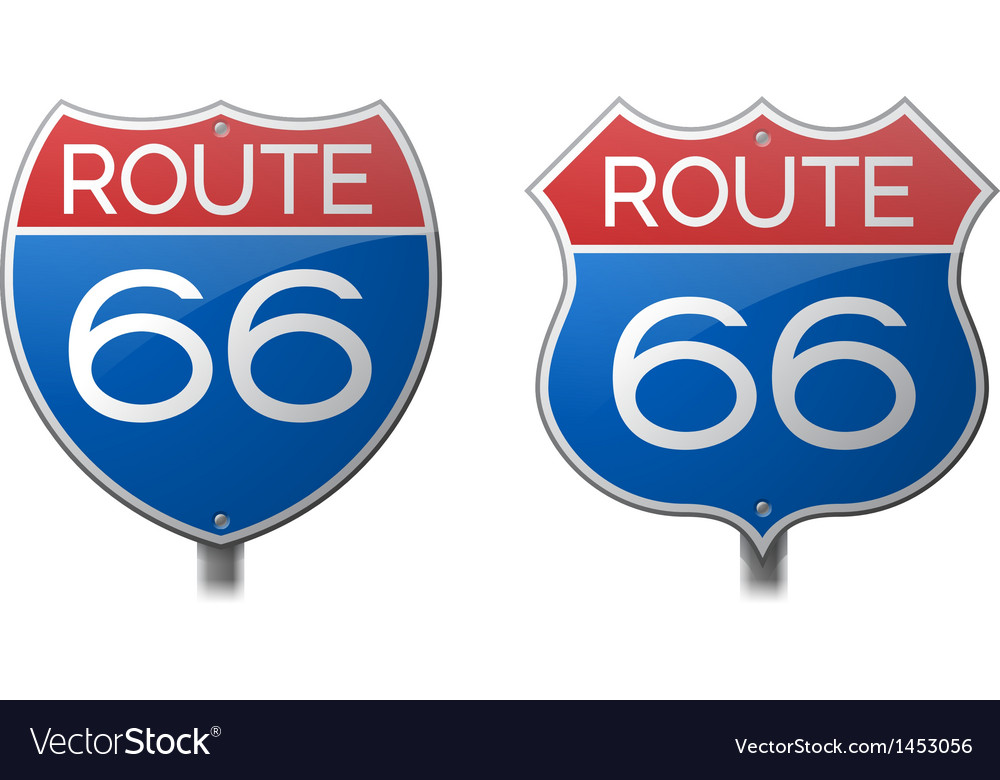 Route 66 signs vector | Price: 1 Credit (USD $1)