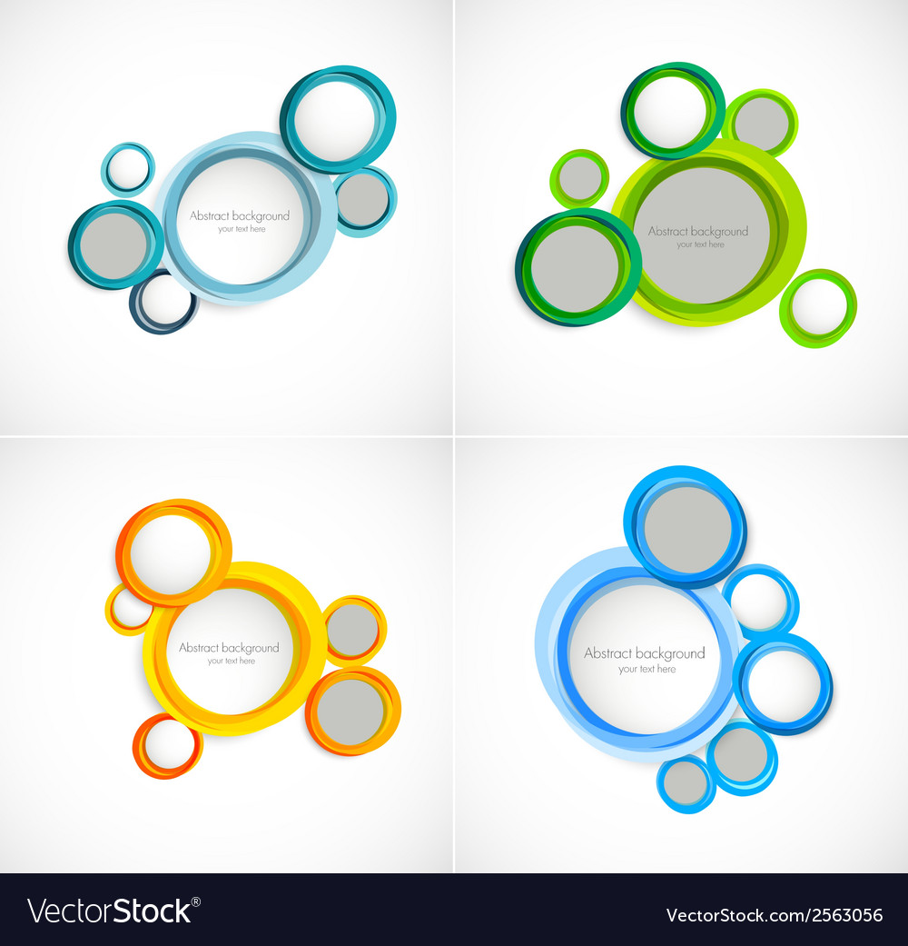 Set of circles backgrounds vector | Price: 1 Credit (USD $1)