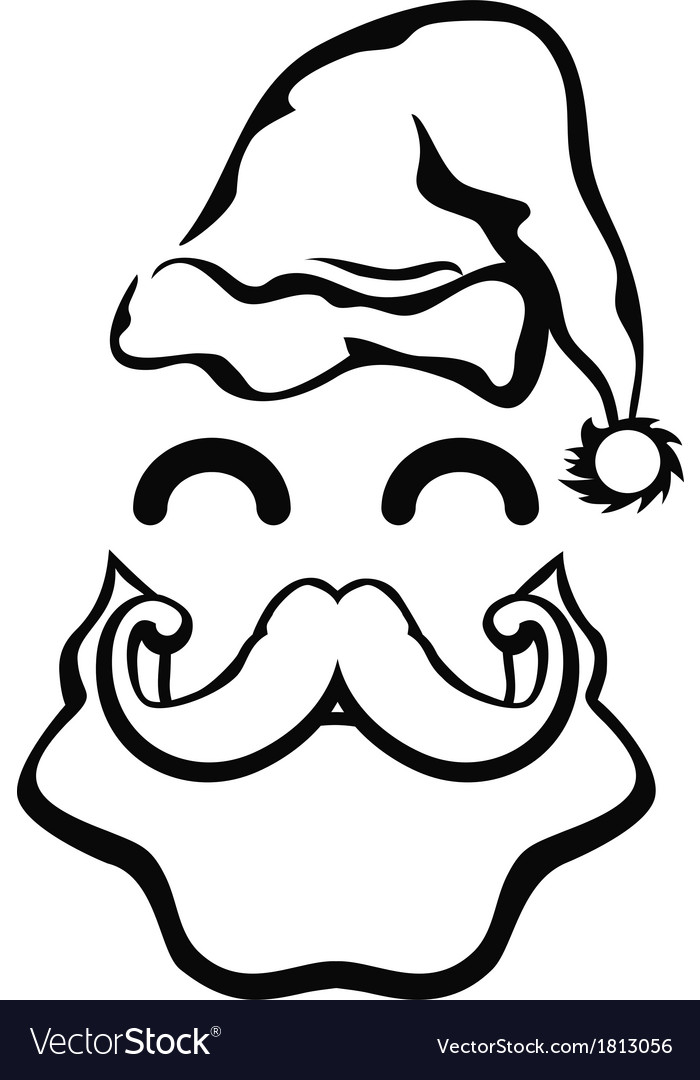 Symbol of santa claus face vector | Price: 1 Credit (USD $1)