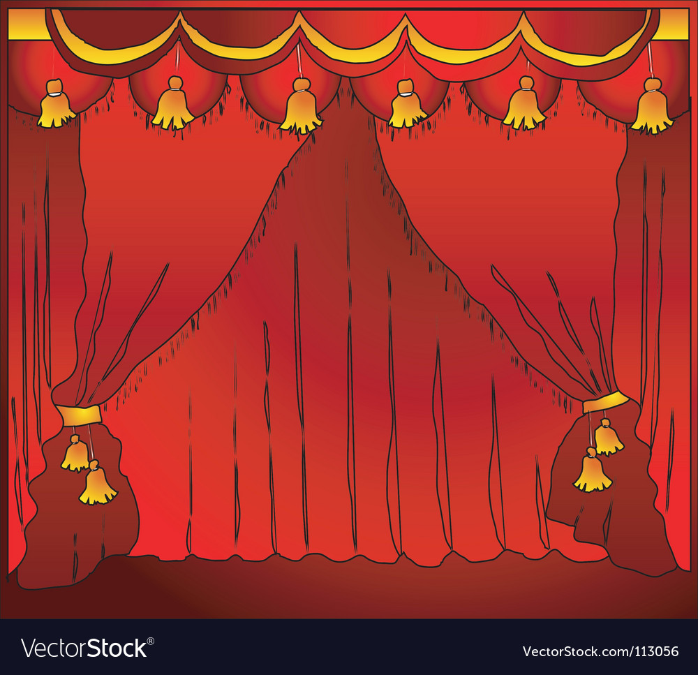 Theatre curtain vector | Price: 1 Credit (USD $1)