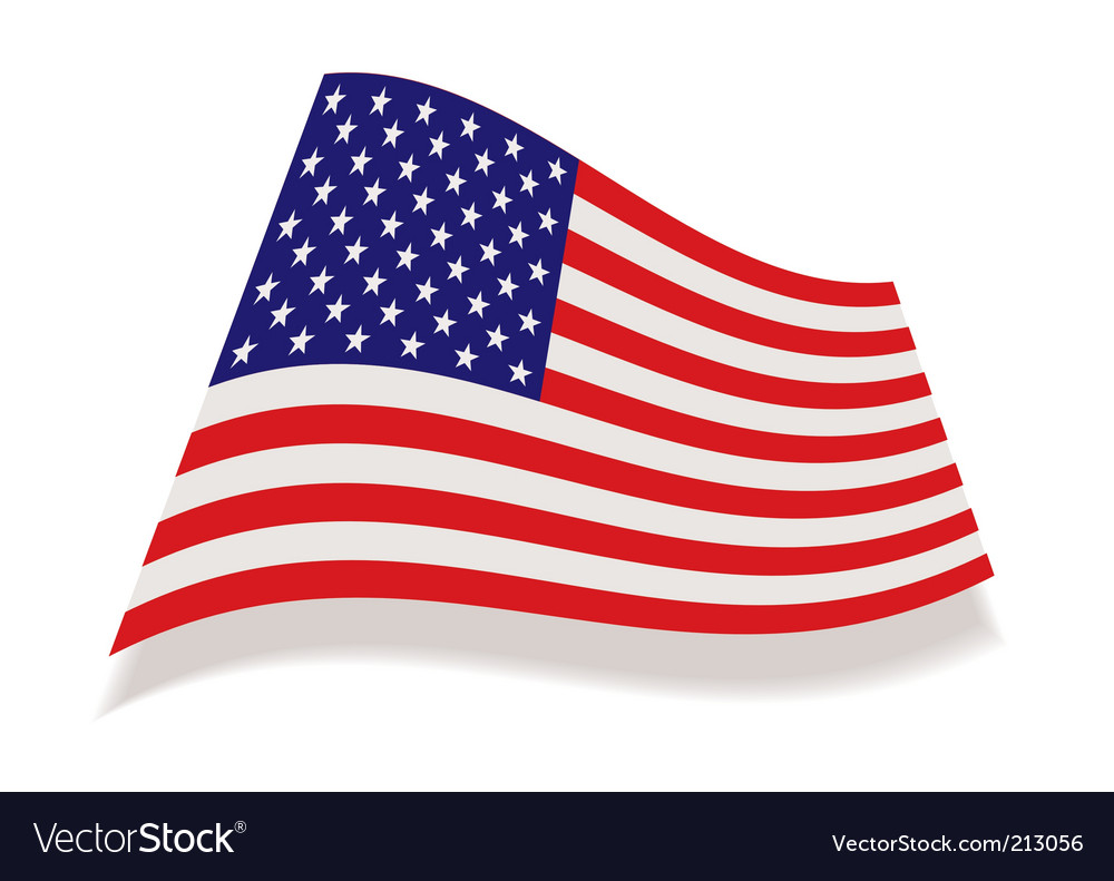 Usa stars and stripes flag vector | Price: 1 Credit (USD $1)