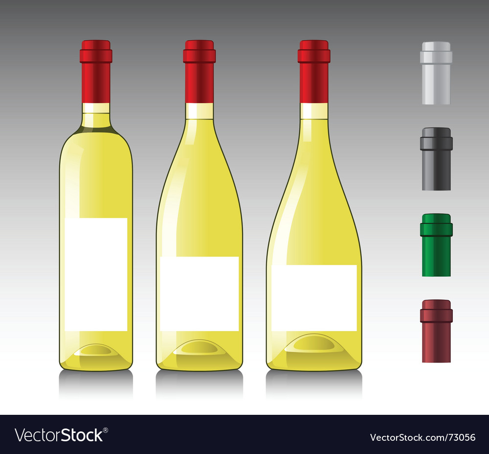White wine bottles vector | Price: 1 Credit (USD $1)