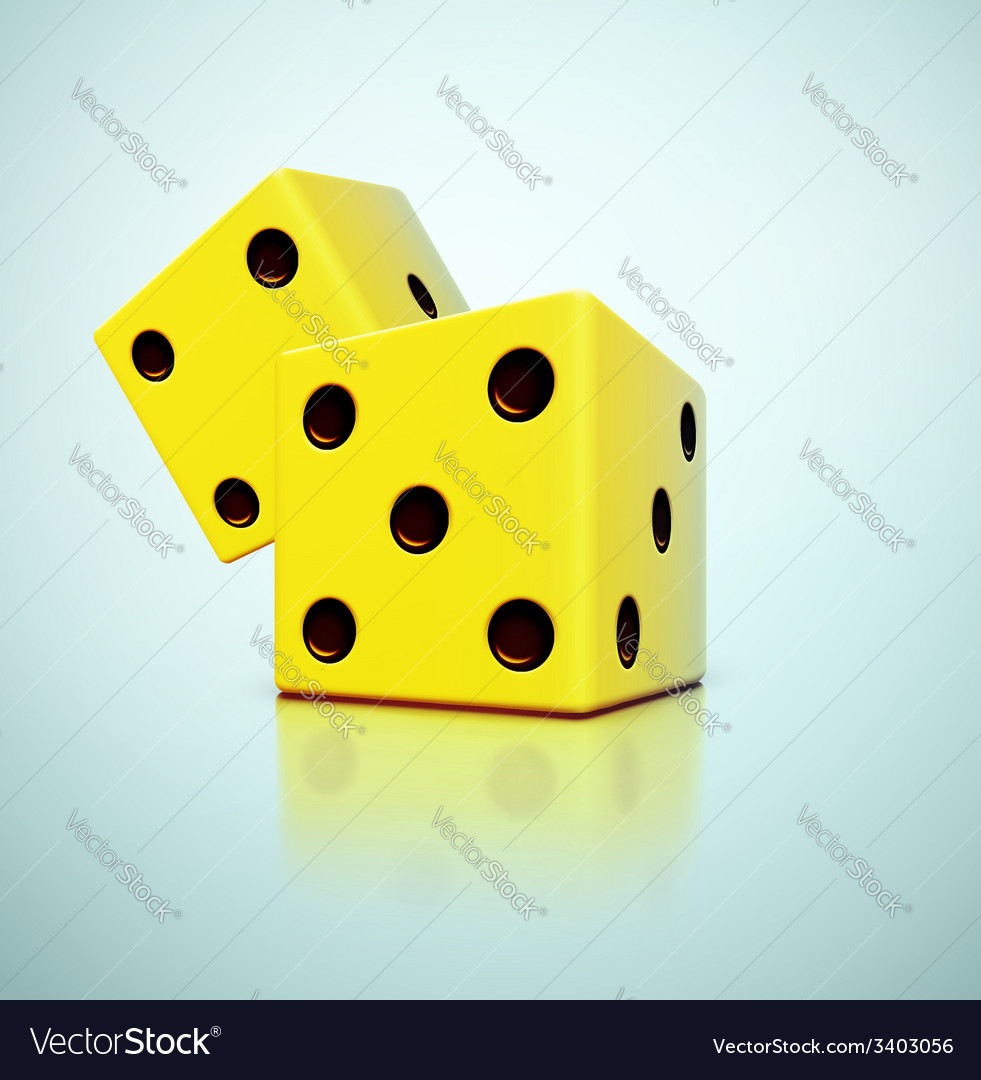 Yellow dices vector | Price: 1 Credit (USD $1)