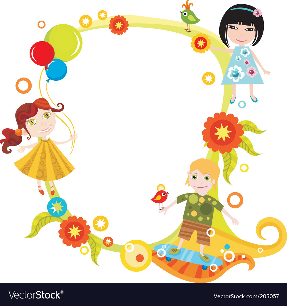 Children card vector | Price: 3 Credit (USD $3)