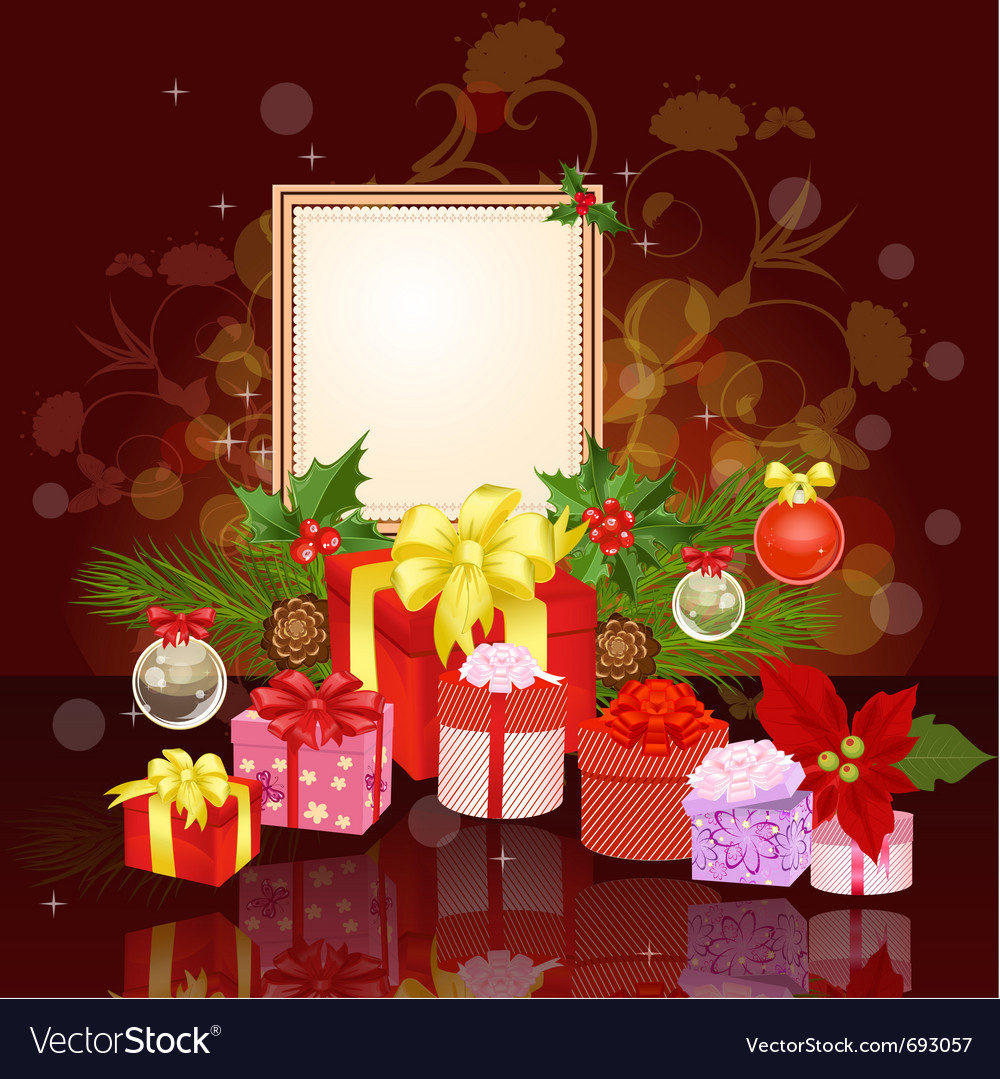 Christmas ornament frame vector | Price: 3 Credit (USD $3)