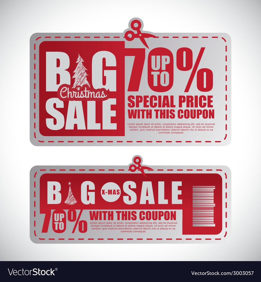 Christmas sale design vector | Price: 1 Credit (USD $1)