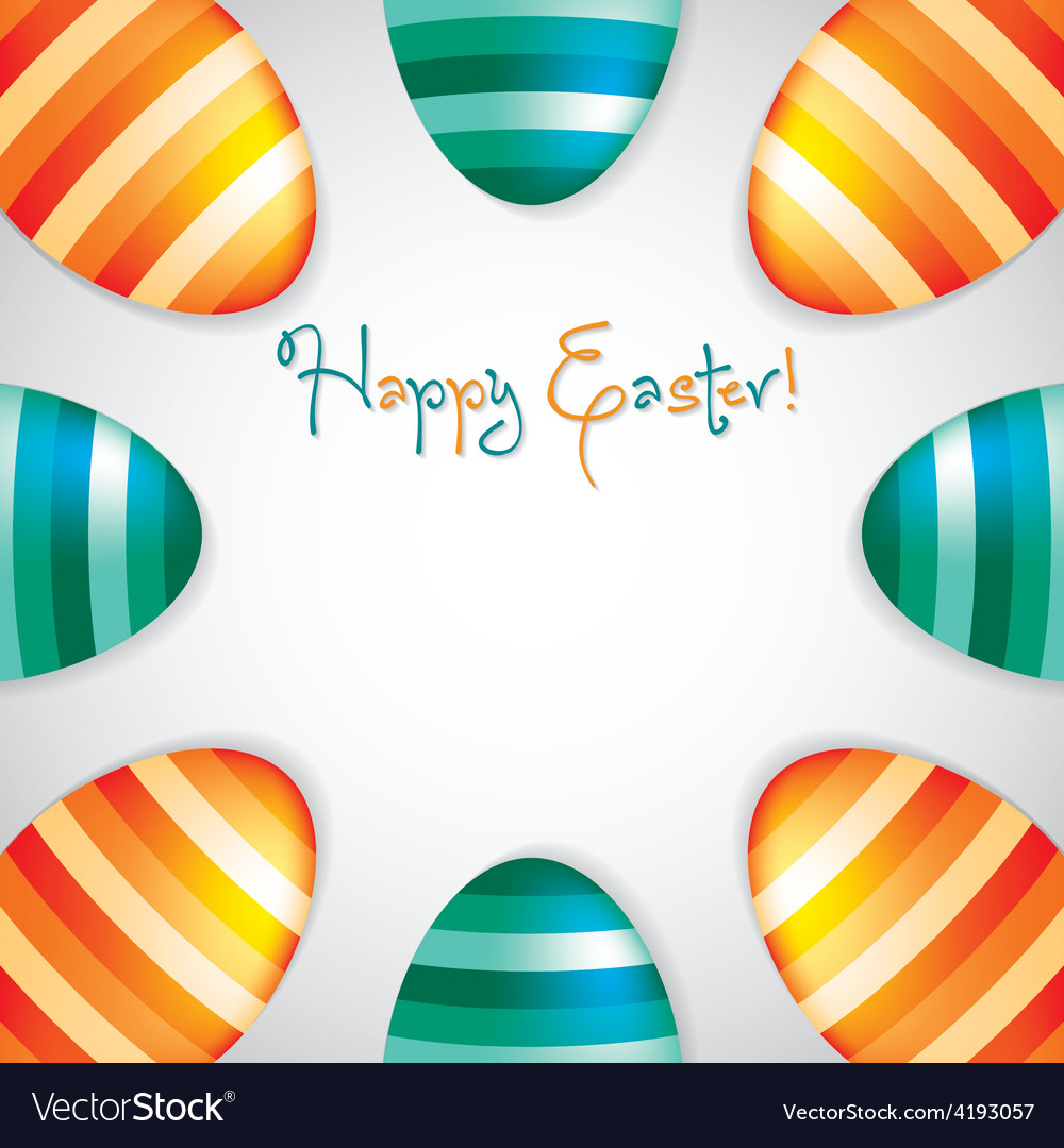 Circle of easter eggs border in format vector | Price: 1 Credit (USD $1)