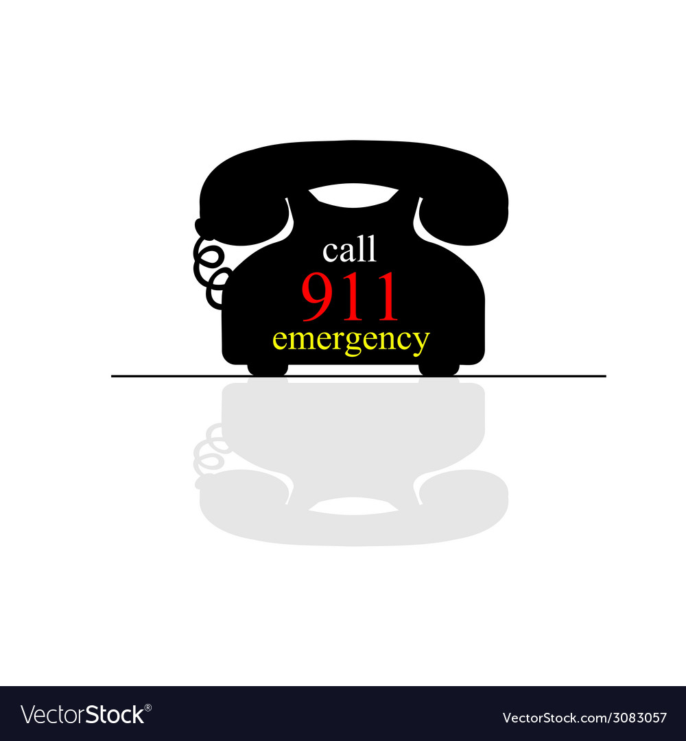 Emergency call phone vector | Price: 1 Credit (USD $1)