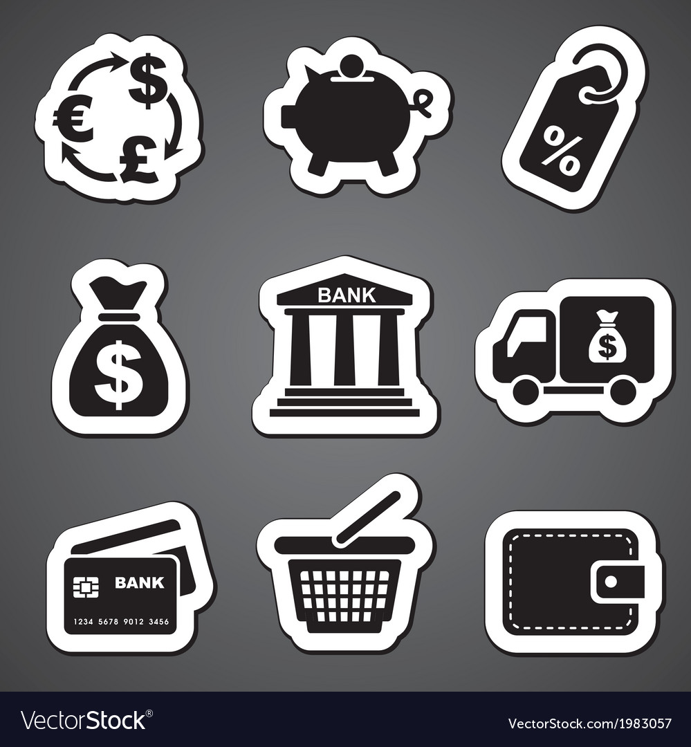 Finance sticker label vector | Price: 1 Credit (USD $1)