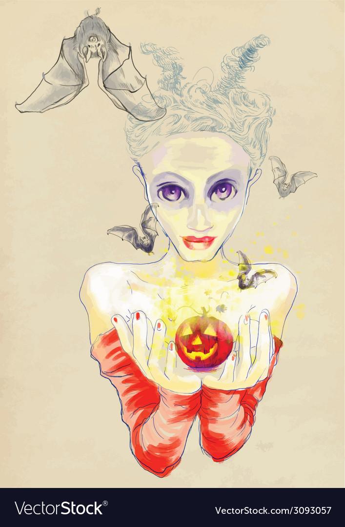 Lady devil vector | Price: 1 Credit (USD $1)