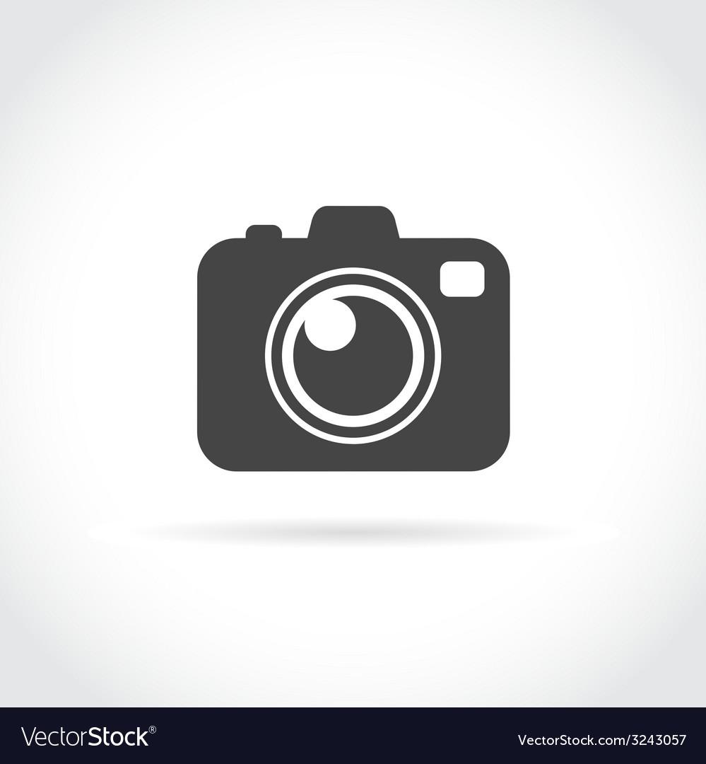 Photo camera flat icon vector | Price: 1 Credit (USD $1)