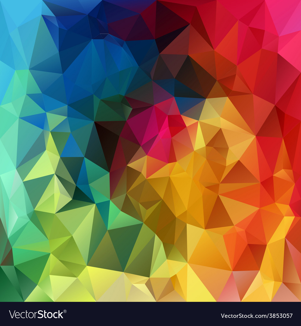 Rainbow spectrum polygonal triangular pattern vector | Price: 1 Credit (USD $1)