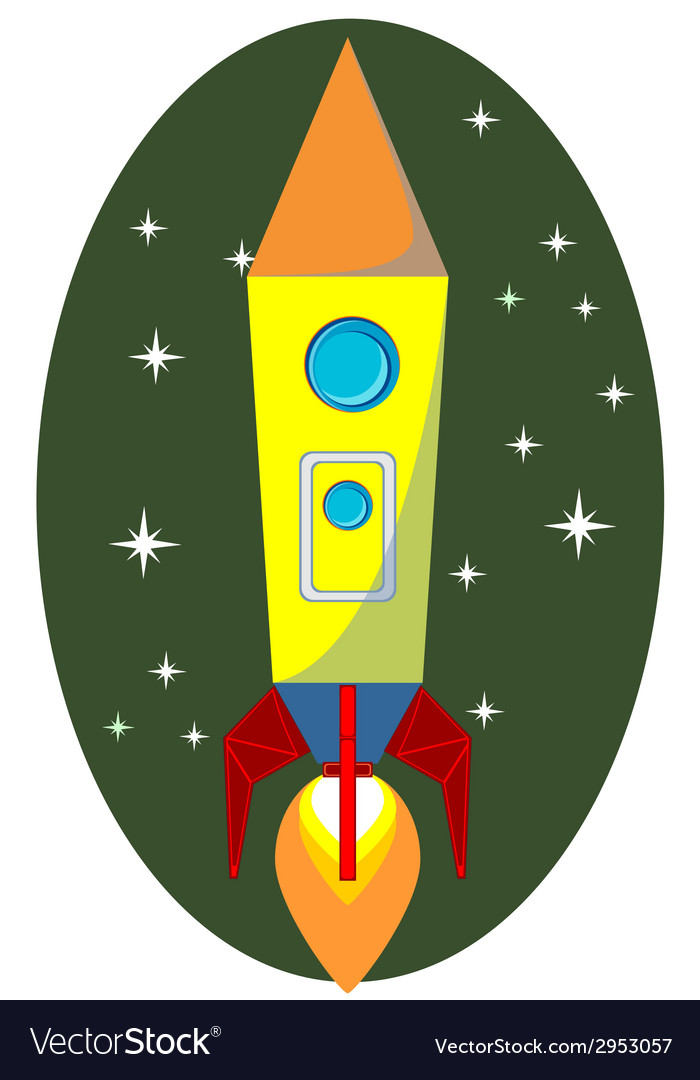 Rocket space ship on background vector | Price: 1 Credit (USD $1)