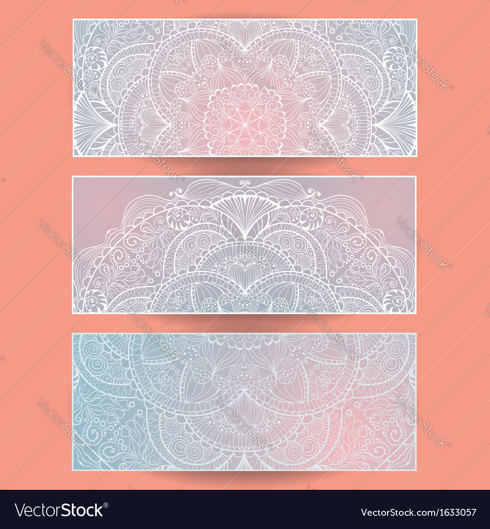 Set of abstract banners eps10 vector | Price: 1 Credit (USD $1)