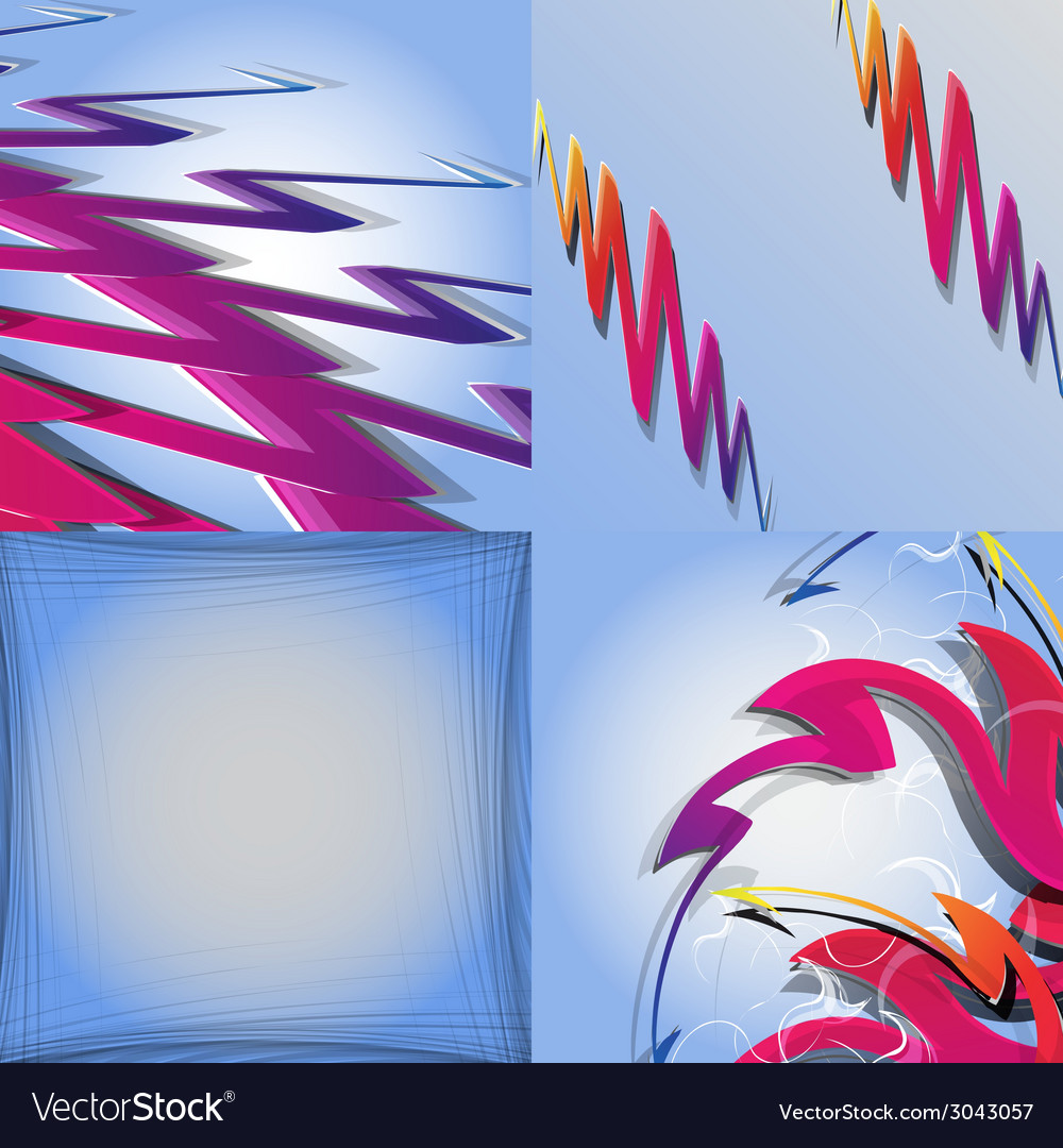 Set of abstract rainbow concept background vector | Price: 1 Credit (USD $1)