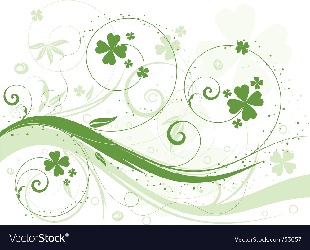 Shamrock background vector | Price: 1 Credit (USD $1)