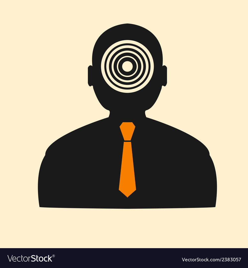 Stock target in the form of man vector | Price: 1 Credit (USD $1)