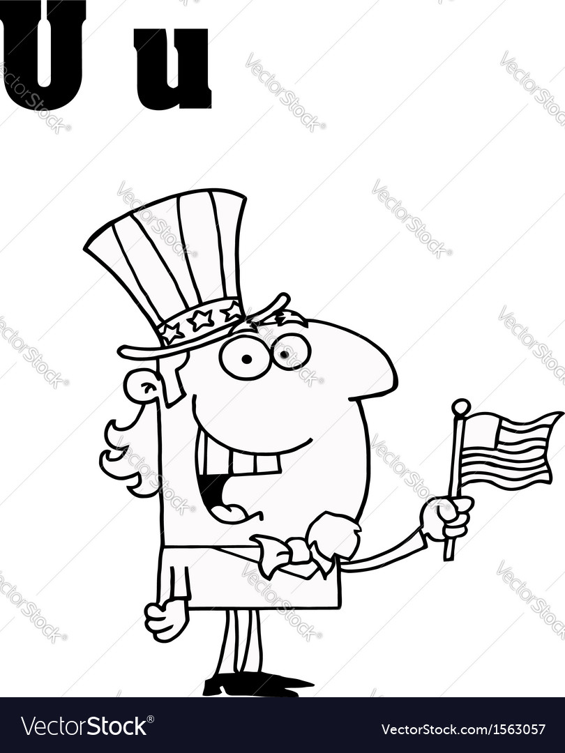 Uncle sam cartoon with letter vector | Price: 1 Credit (USD $1)