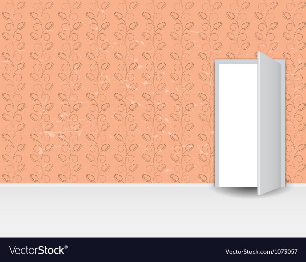 Vintage pattern wall door vector | Price: 1 Credit (USD $1)