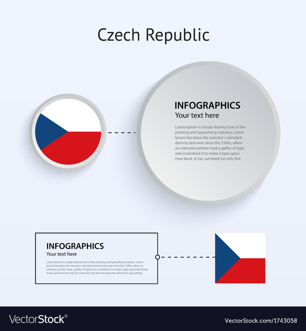 Czech republic country set of banners vector | Price: 1 Credit (USD $1)