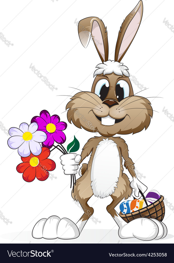 Easter rabbit with easter eggs vector | Price: 3 Credit (USD $3)