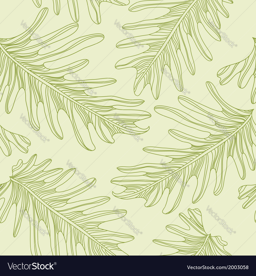 Green palm trees seamless pattern background with vector | Price: 1 Credit (USD $1)