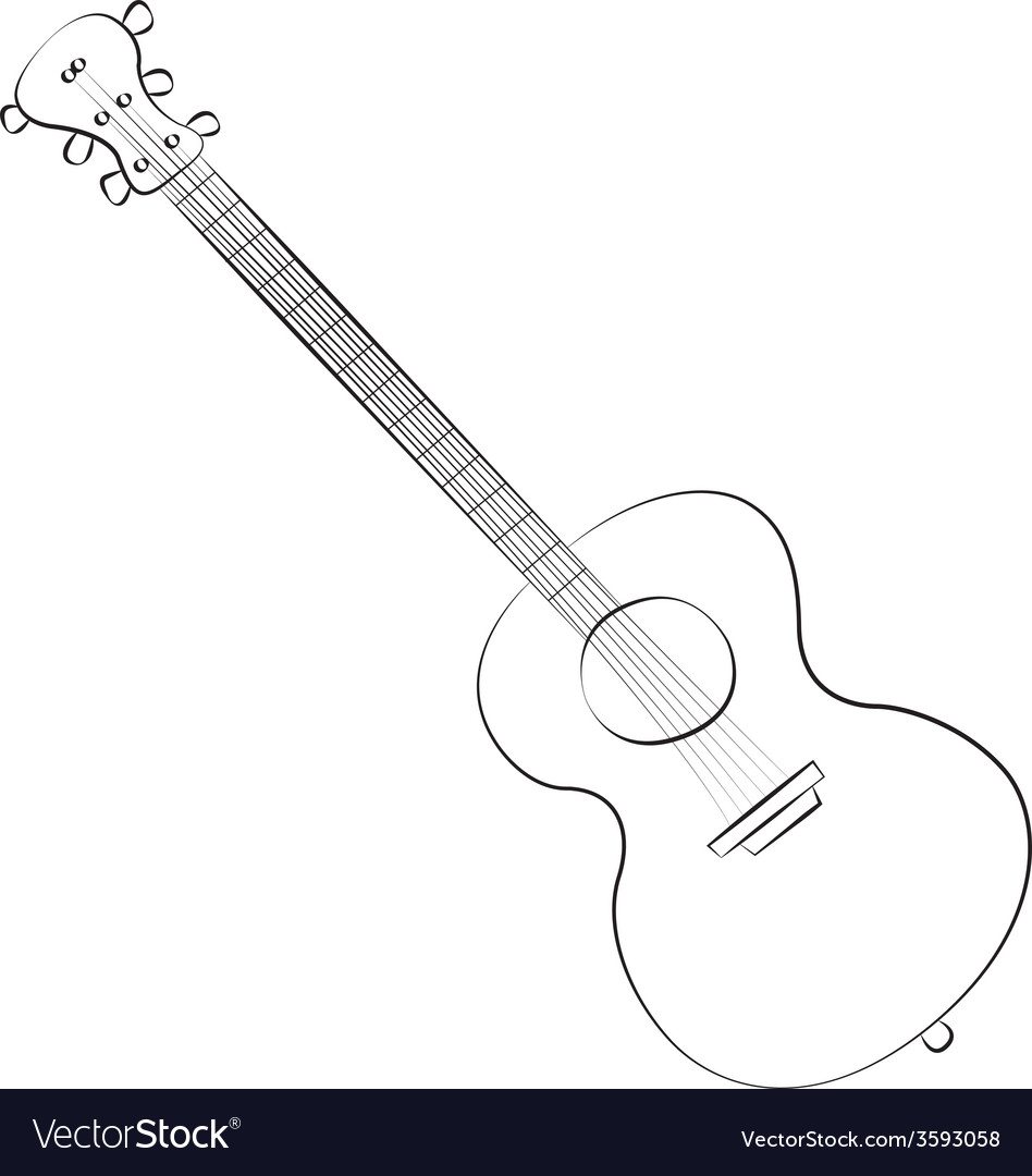 Guitar01 vector | Price: 1 Credit (USD $1)