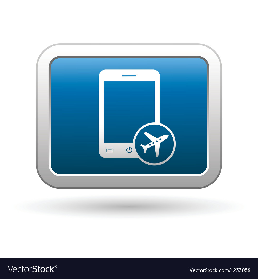 Phone with in plane mode icon vector | Price: 1 Credit (USD $1)