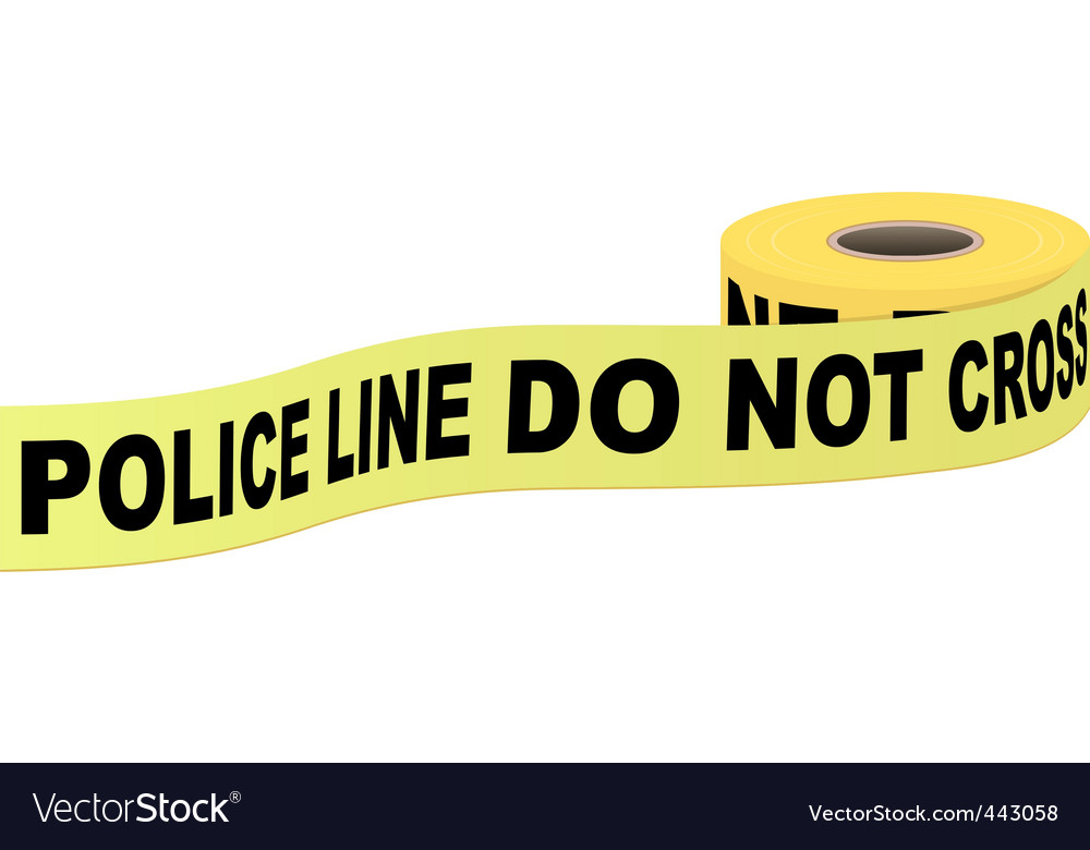 Police tape with text vector | Price: 1 Credit (USD $1)