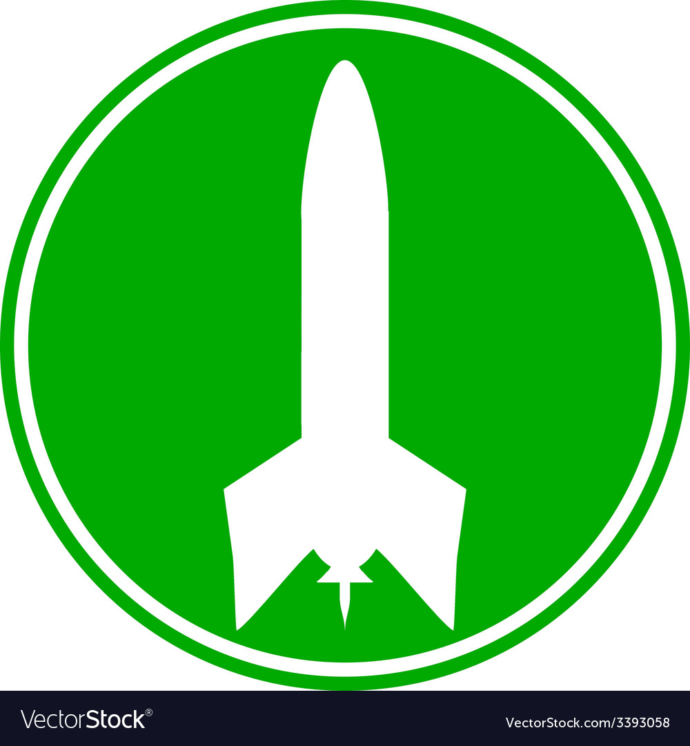 Rocket button vector | Price: 1 Credit (USD $1)