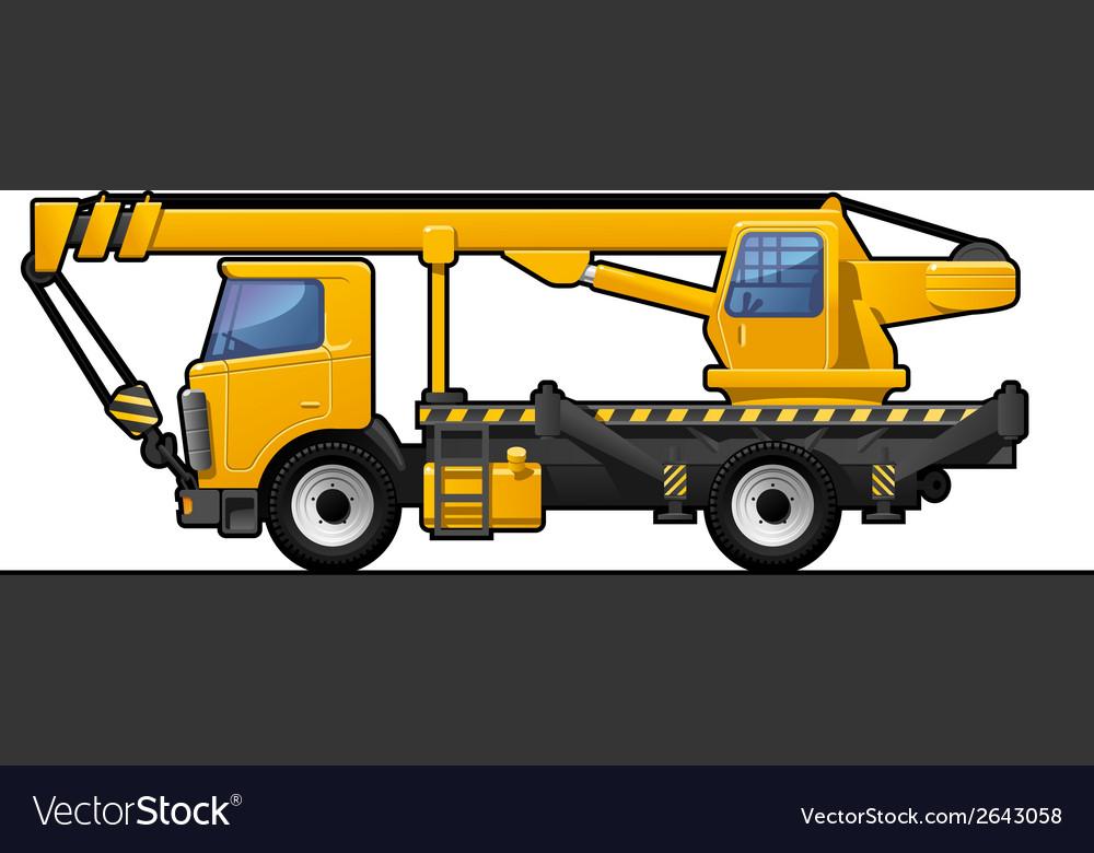 Truck crane vector   Price: 1 Credit (USD $1)