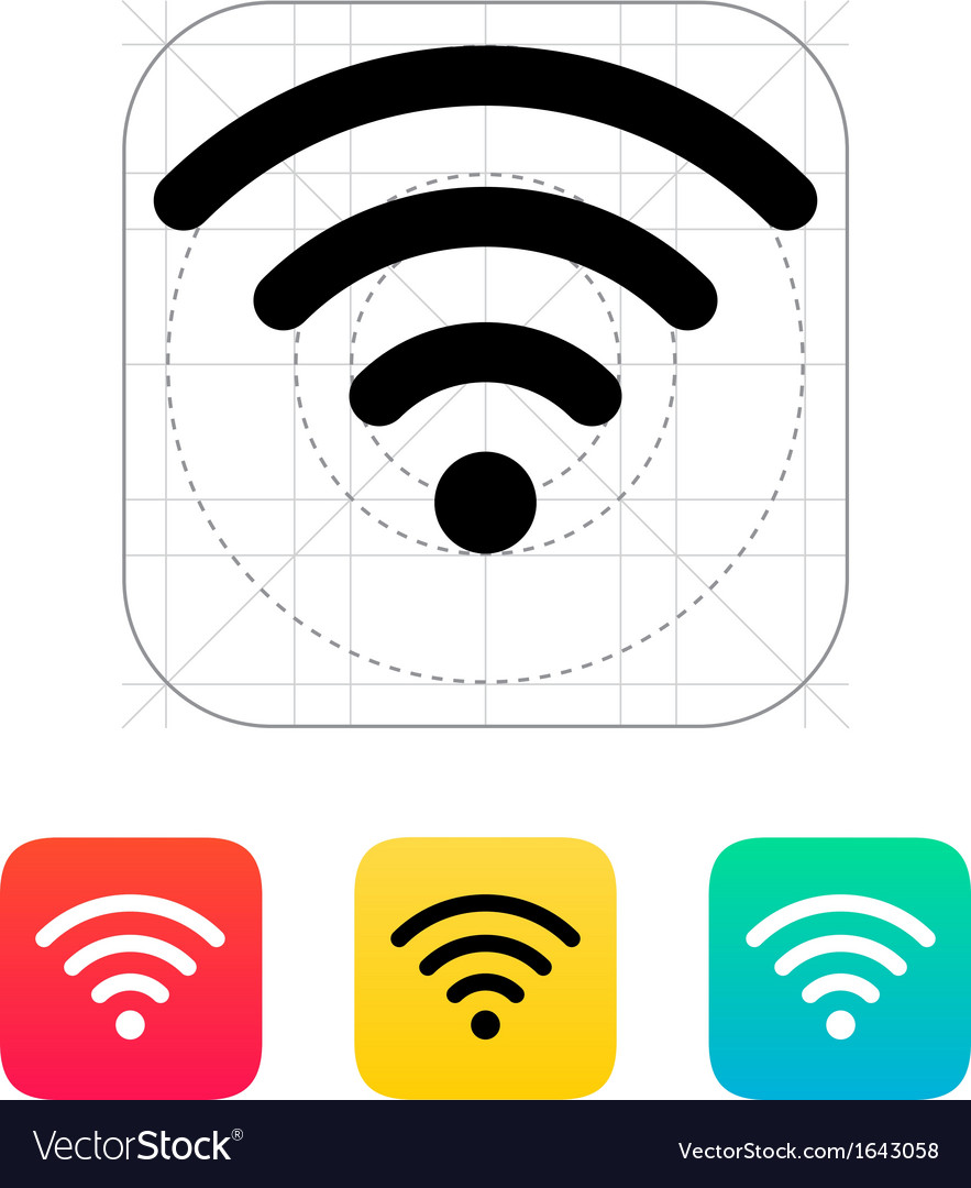 Wireless network icon vector | Price: 1 Credit (USD $1)